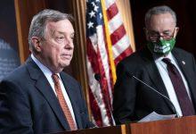 शीर्ष सीनेट डेमोक्रेट्स ने सांसदों के डेटा प्राप्त करने के प्रयासों पर बार, सत्र गवाही को मजबूर करने की धमकी दी