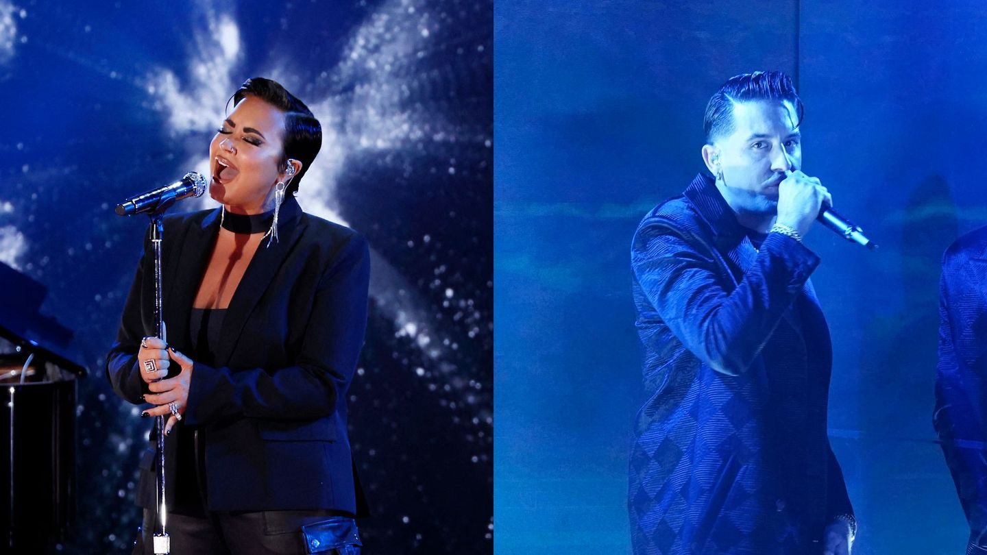 Demi Lovato And G-Eazy Confront Their Headlines In Gripping 'Breakdown' Performance